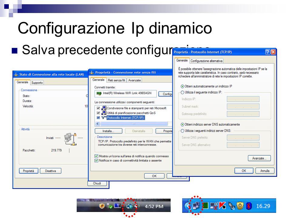 Configurazione Ip dinamico