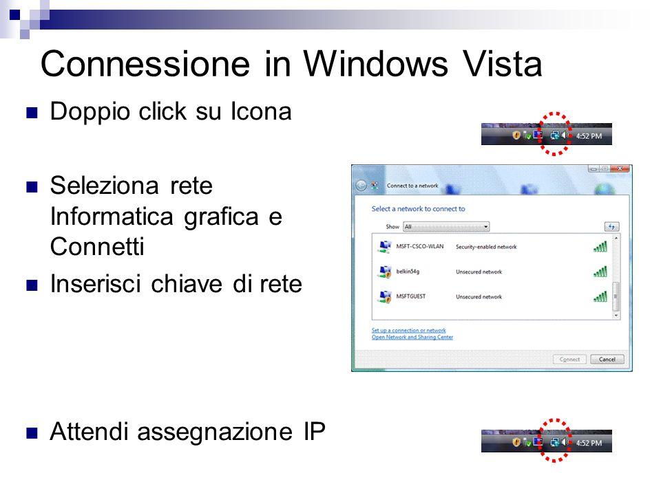 Connessione in Windows Vista