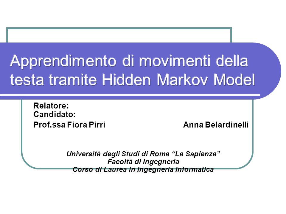 Apprendimento di movimenti della testa tramite Hidden Markov Model