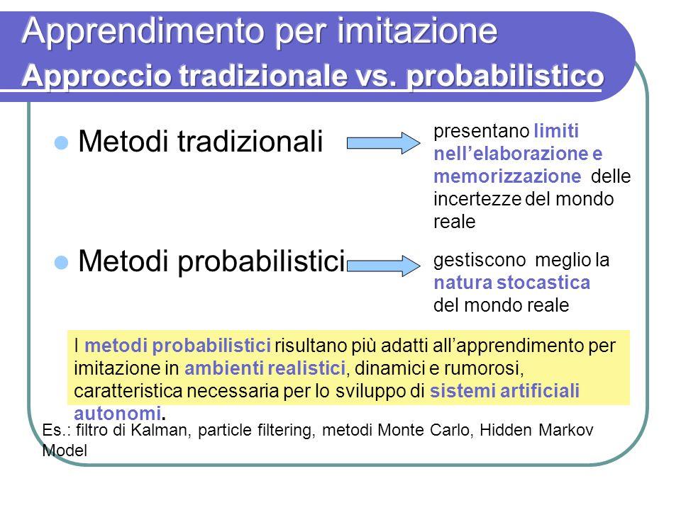 Apprendimento per imitazione Approccio tradizionale vs. probabilistico