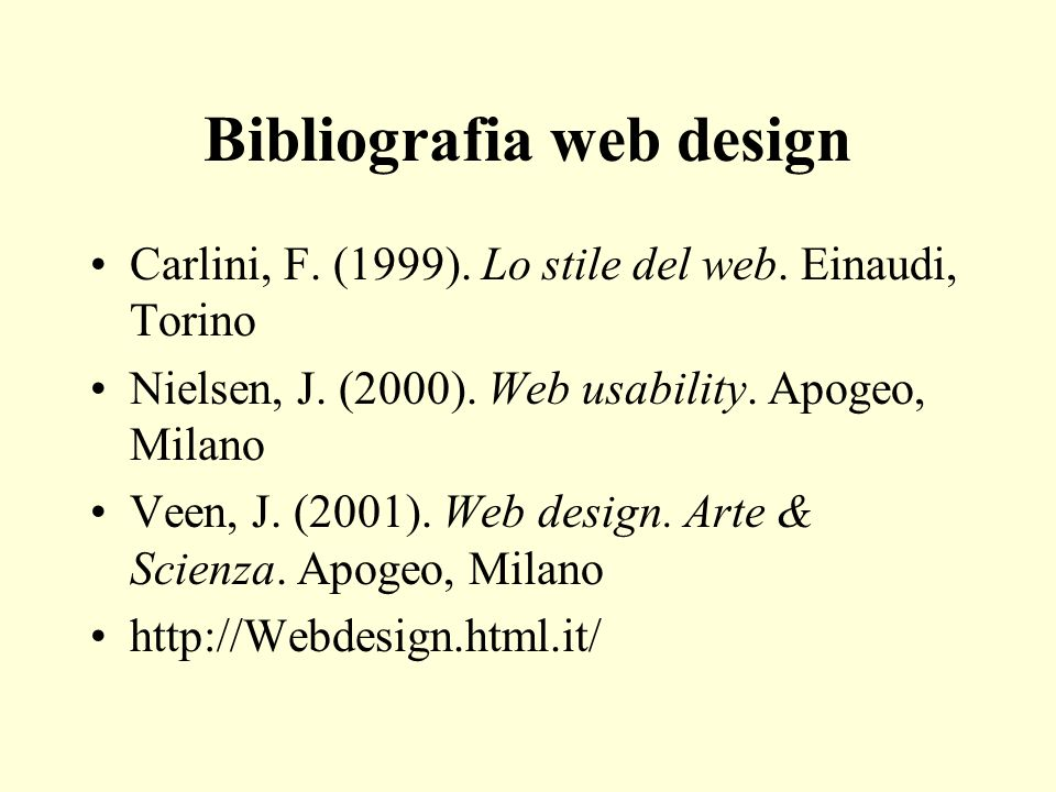 Bibliografia web design