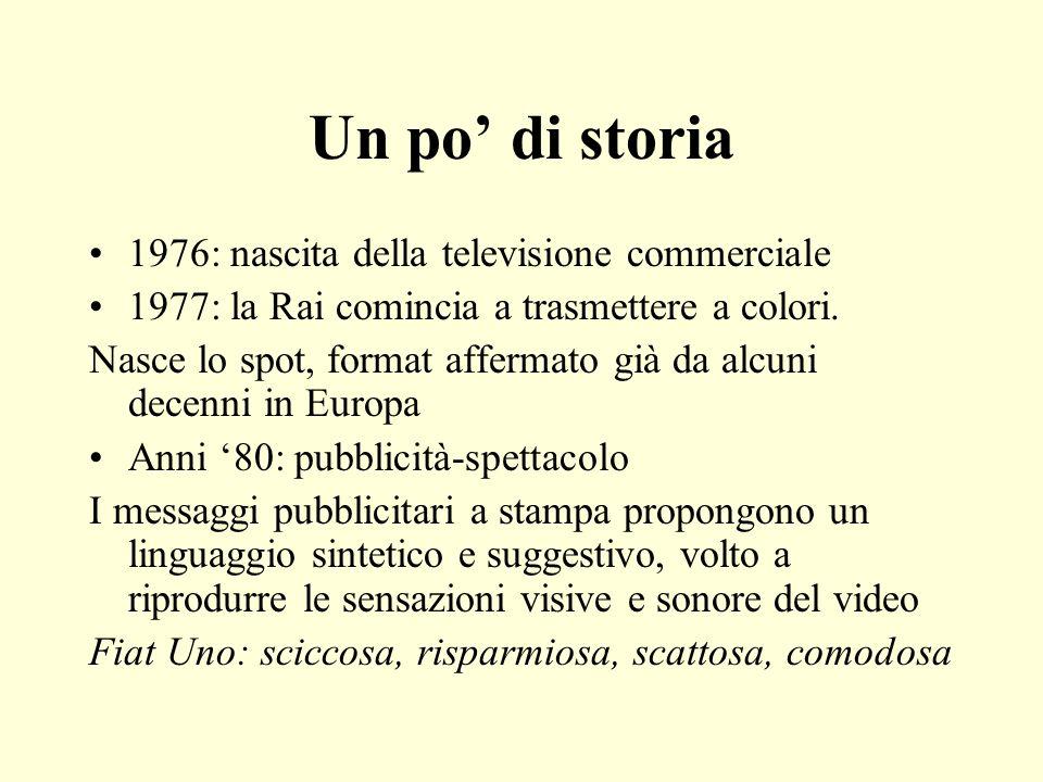 Un po' di storia 1976: nascita della televisione commerciale