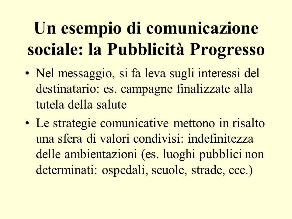 Un esempio di comunicazione sociale: la Pubblicità Progresso