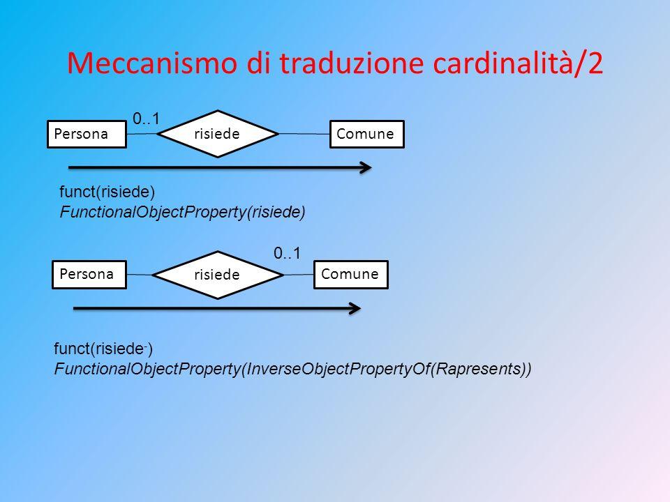 Meccanismo di traduzione cardinalità/2
