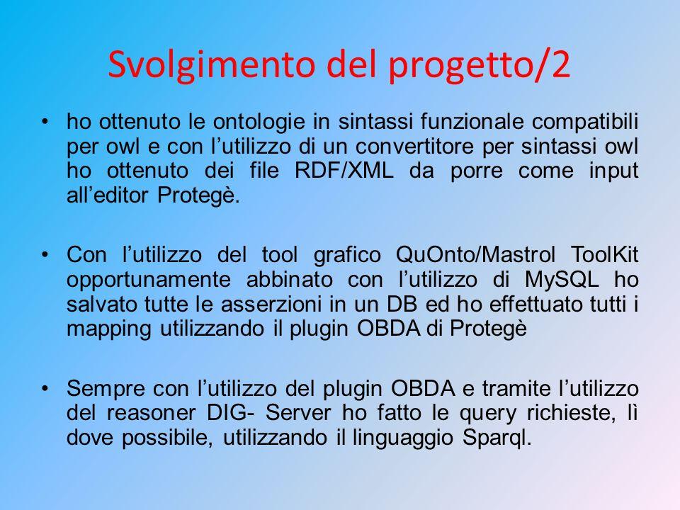 Svolgimento del progetto/2