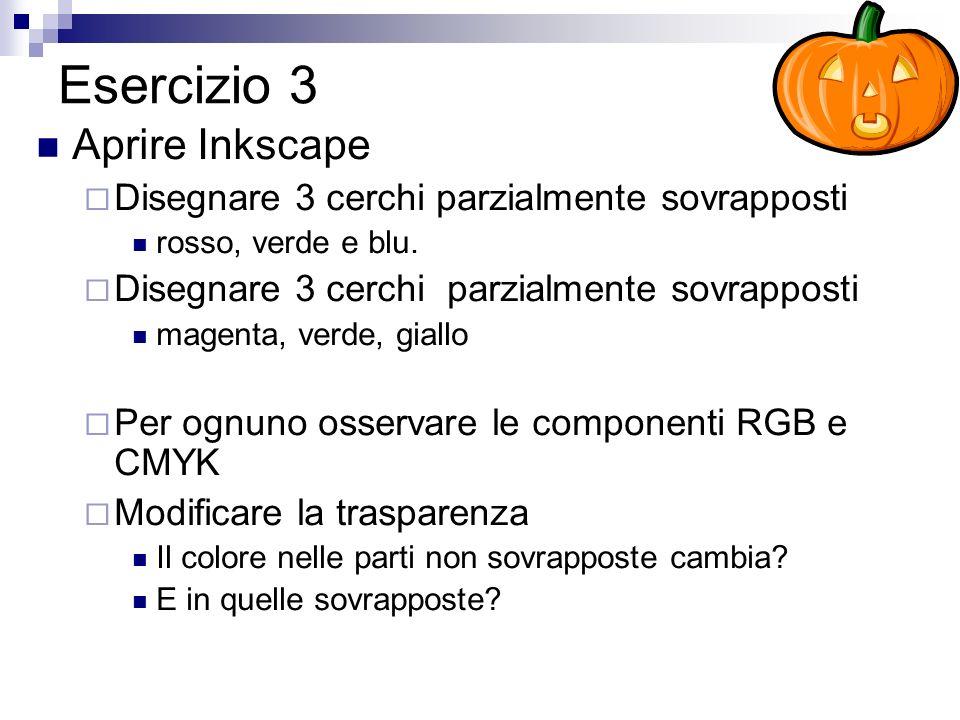 Esercizio 3 Aprire Inkscape
