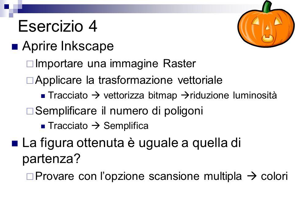 Esercizio 4 Aprire Inkscape
