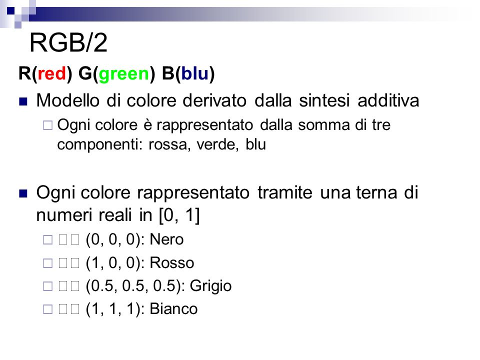 RGB/2 R(red) G(green) B(blu)