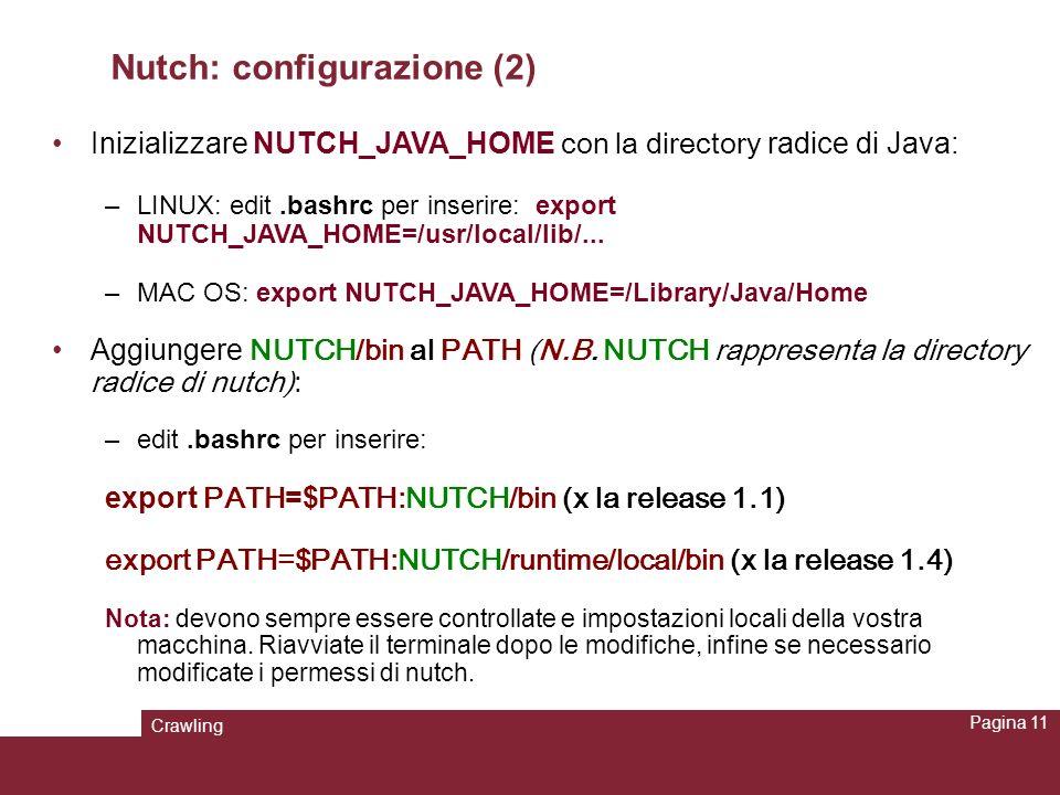 Nutch: configurazione (2)