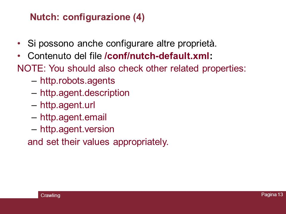 Nutch: configurazione (4)