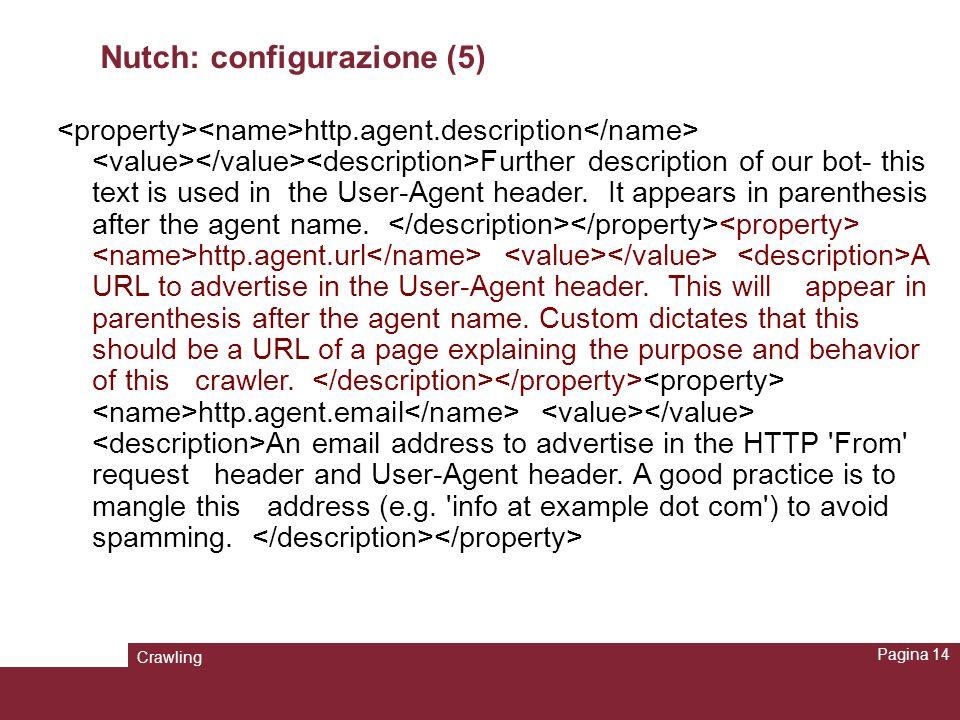 Nutch: configurazione (5)