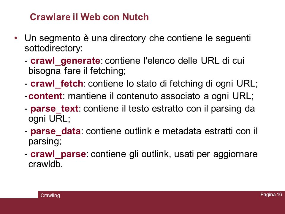 Crawlare il Web con Nutch