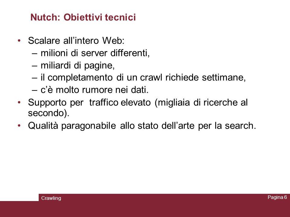 Nutch: Obiettivi tecnici