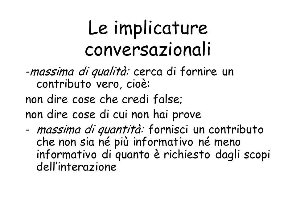 Le implicature conversazionali
