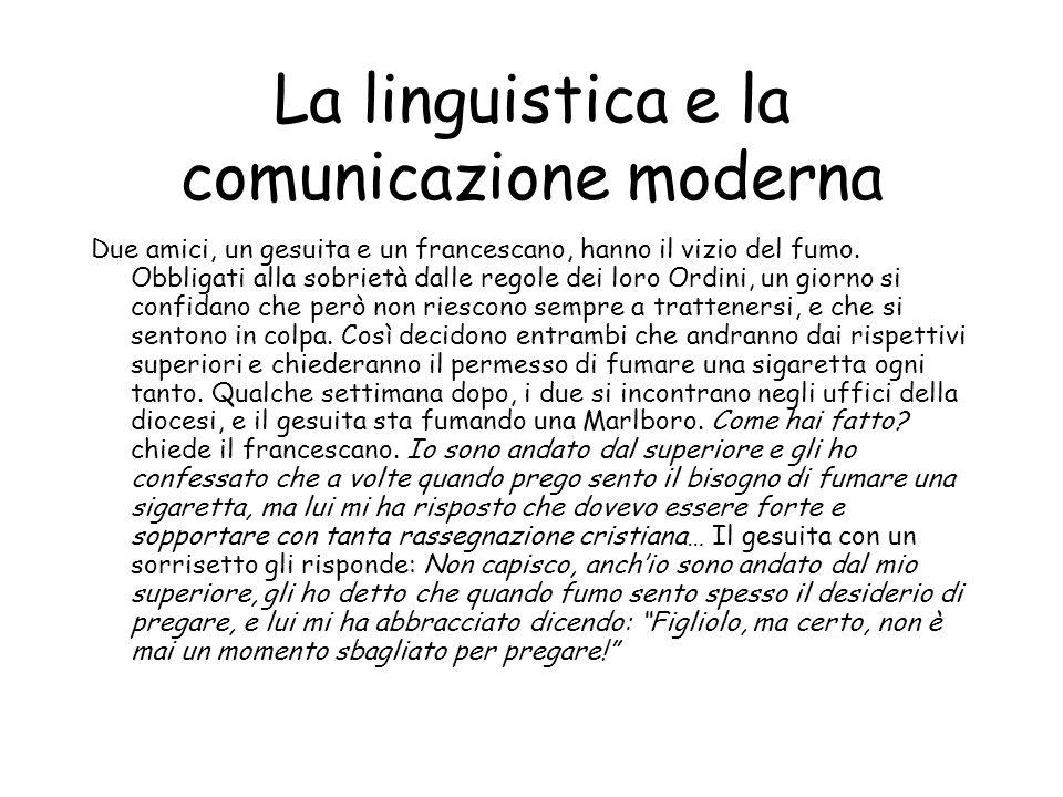La linguistica e la comunicazione moderna