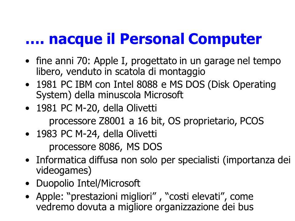…. nacque il Personal Computer