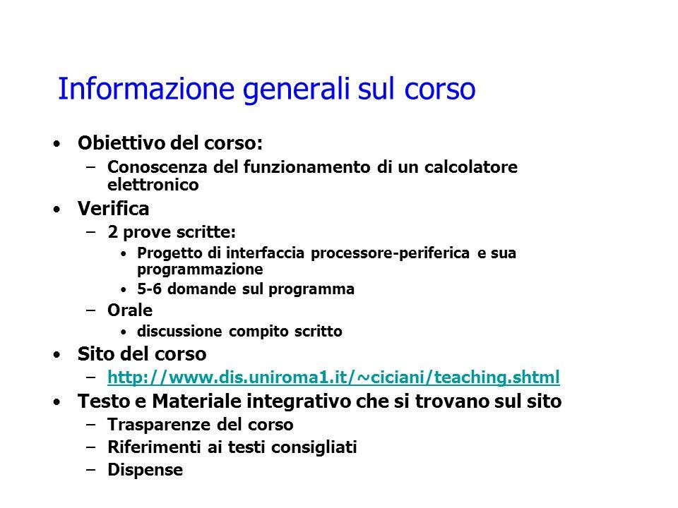 Informazione generali sul corso