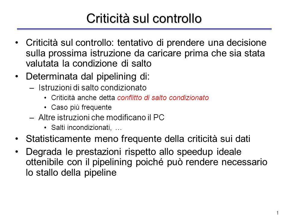 Criticità sul controllo
