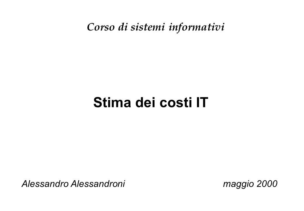 Corso di sistemi informativi
