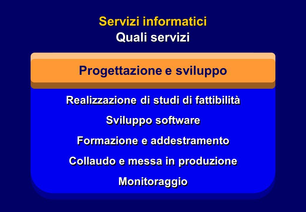 Servizi informatici Quali servizi Progettazione e sviluppo