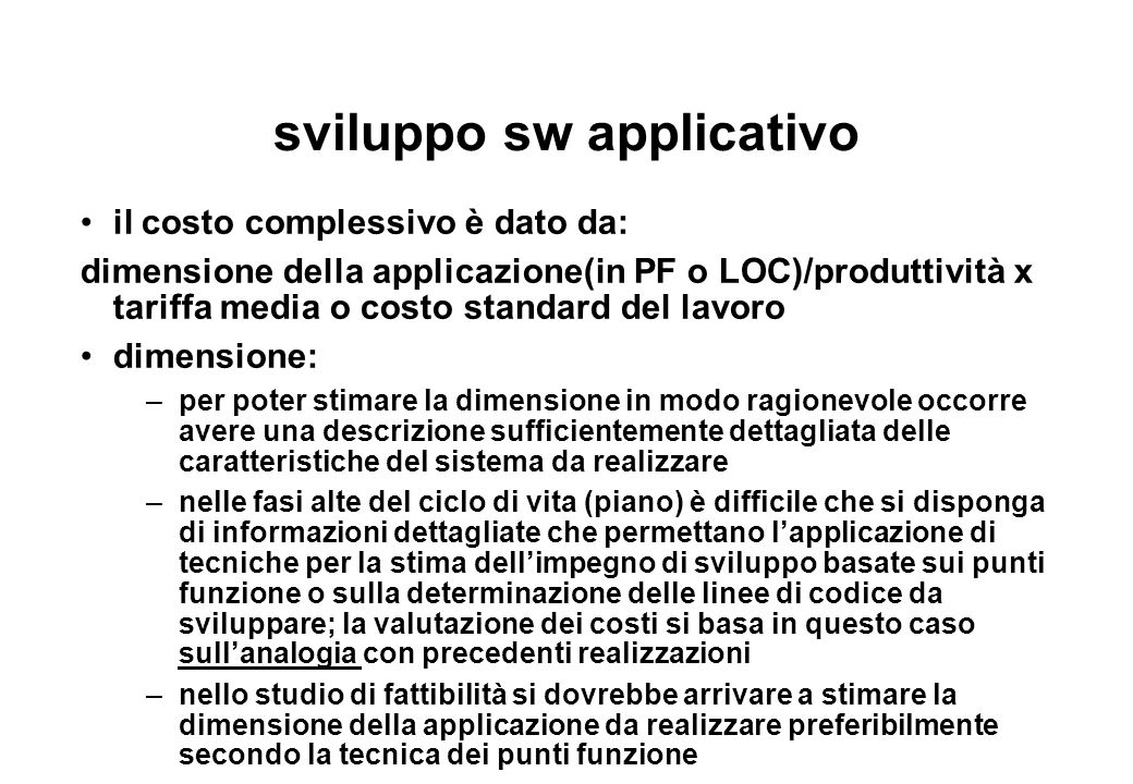 sviluppo sw applicativo