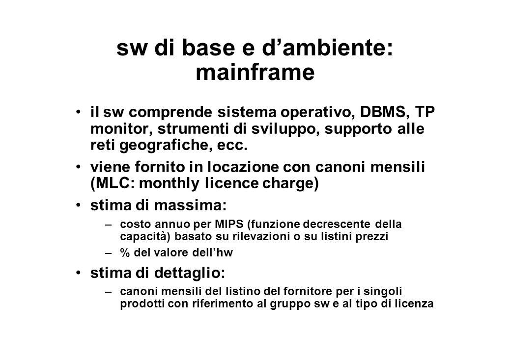 sw di base e d'ambiente: mainframe