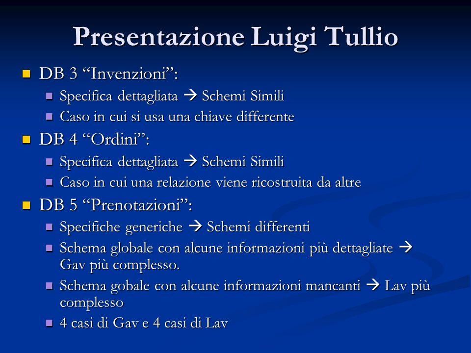 Presentazione Luigi Tullio