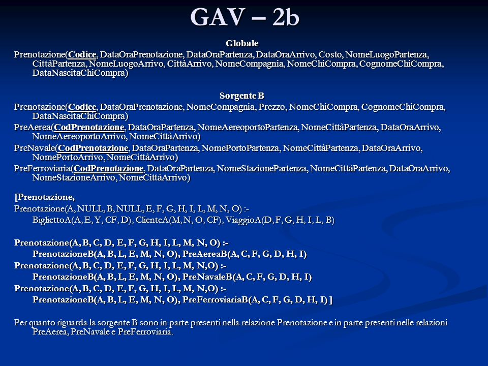 GAV – 2b Globale.