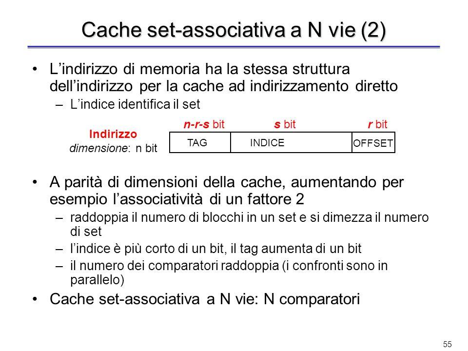 Cache set-associativa a N vie (2)