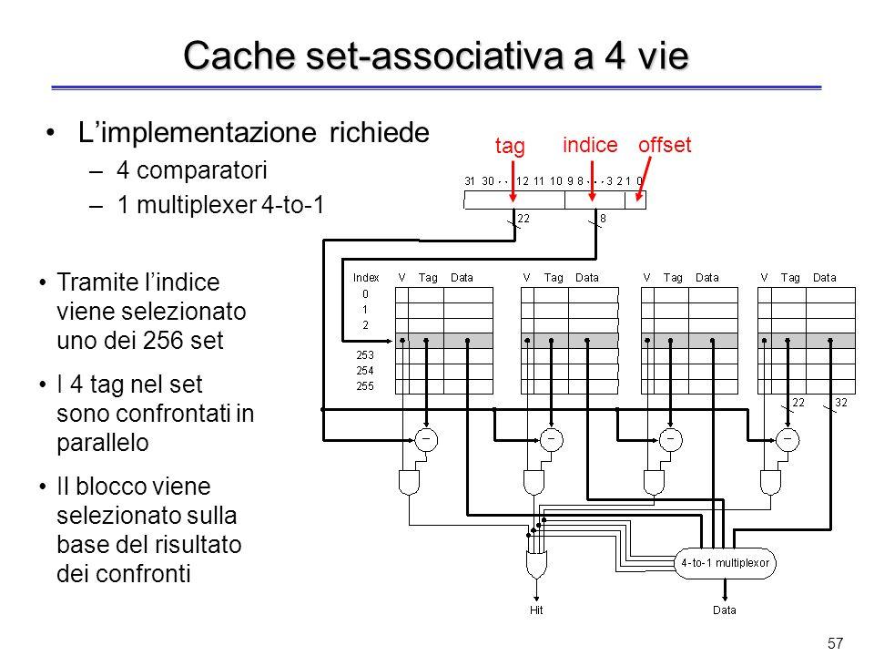 Cache set-associativa a 4 vie