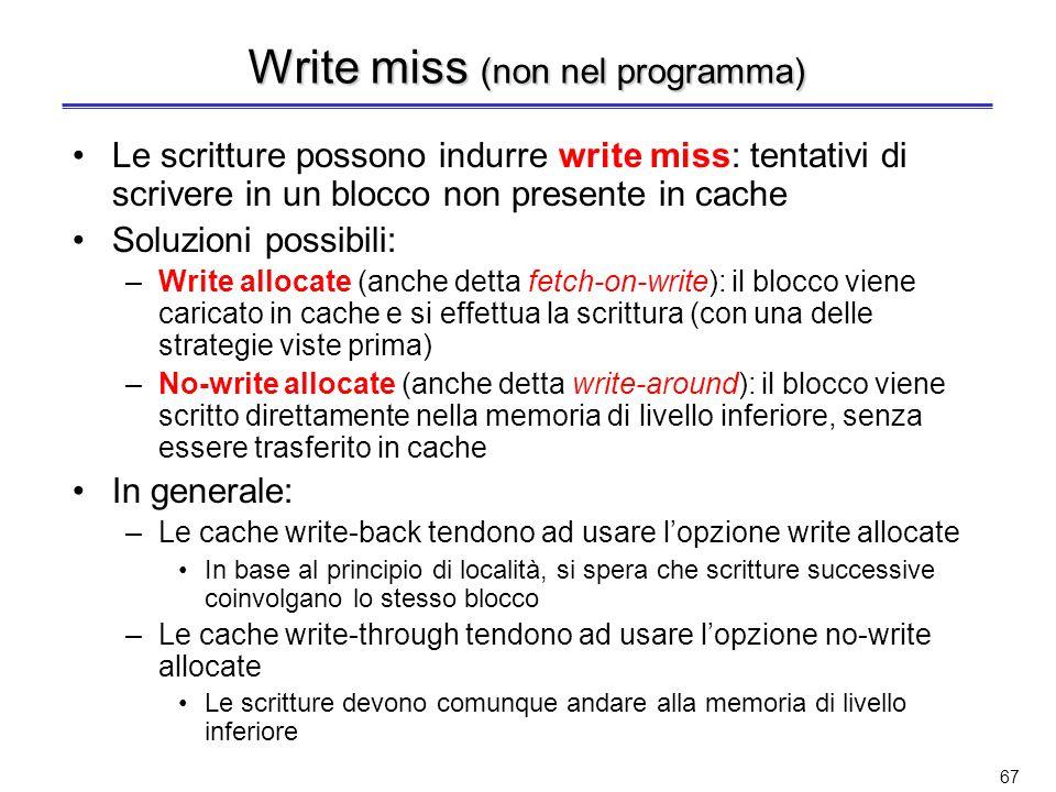 Write miss (non nel programma)