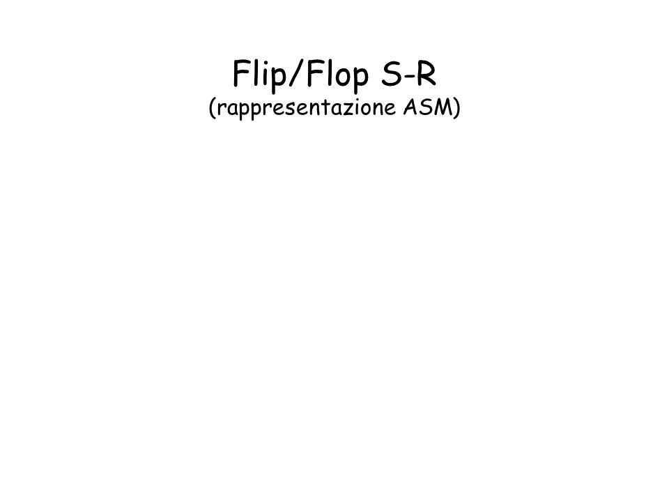 Flip/Flop S-R (rappresentazione ASM)