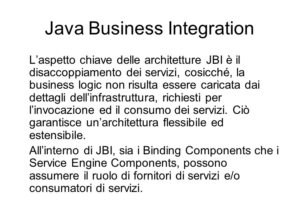 Java Business Integration