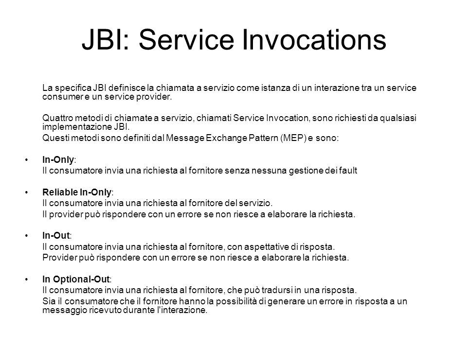 JBI: Service Invocations