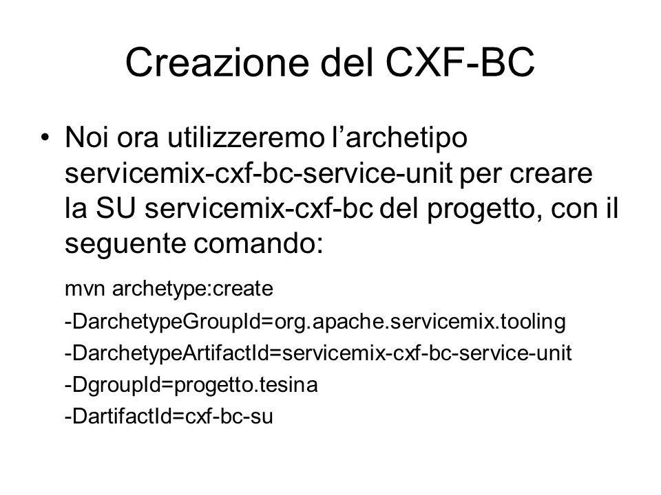 Creazione del CXF-BC