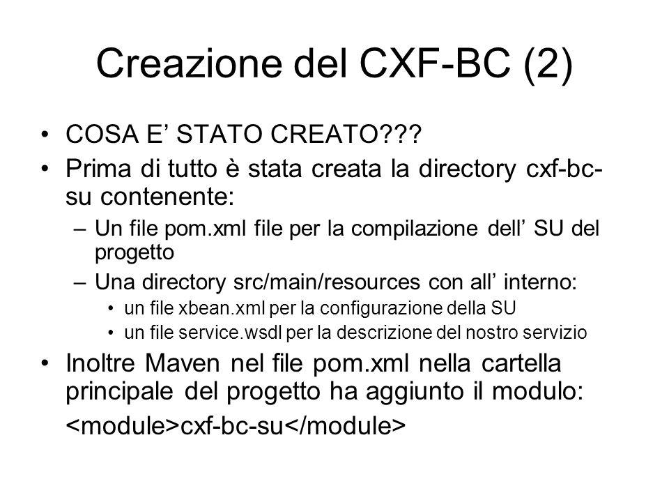 Creazione del CXF-BC (2)