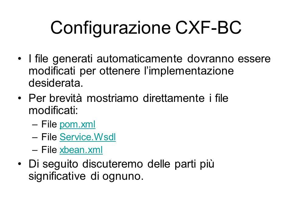 Configurazione CXF-BC