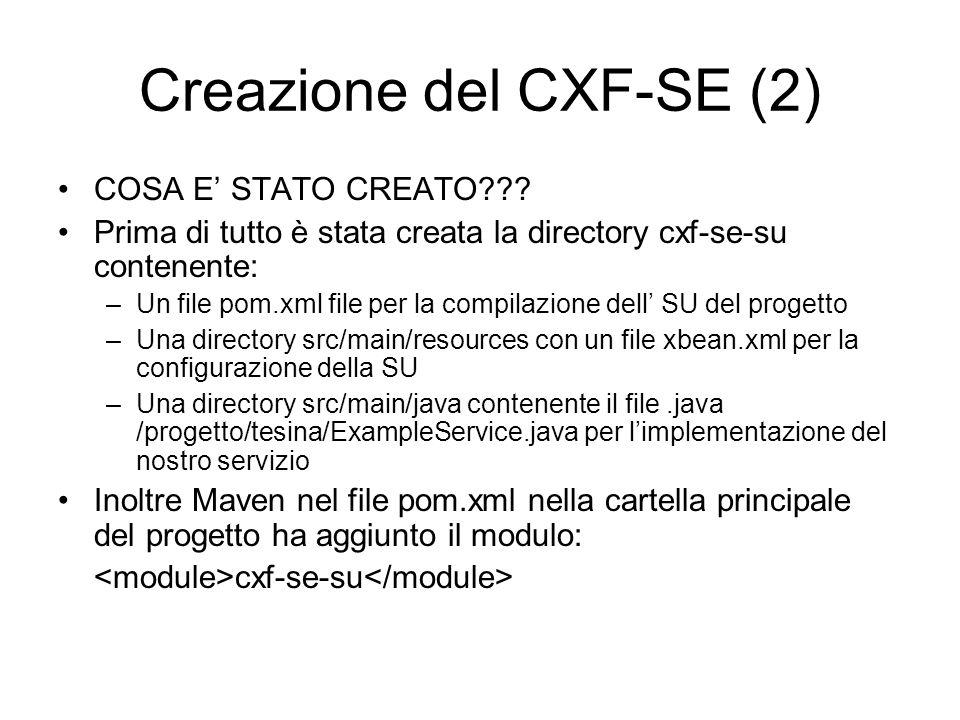 Creazione del CXF-SE (2)