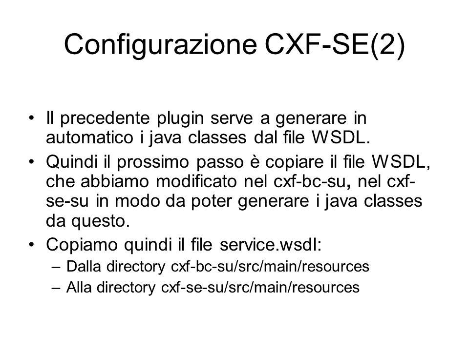 Configurazione CXF-SE(2)