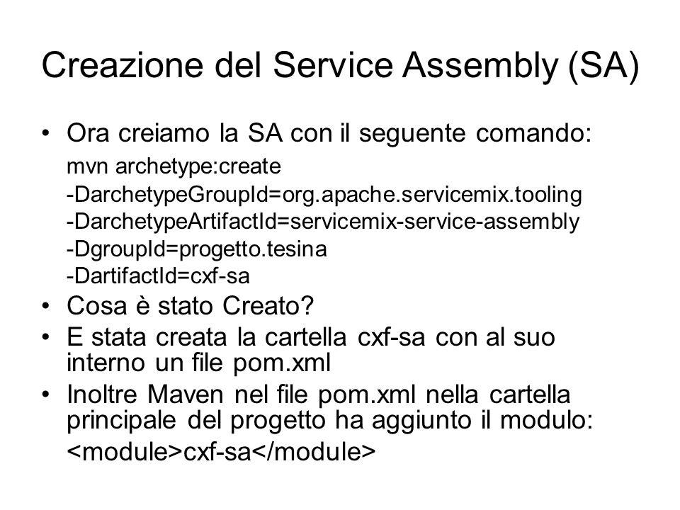 Creazione del Service Assembly (SA)