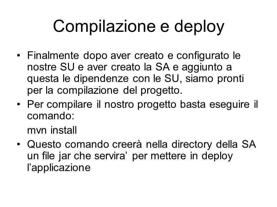 Compilazione e deploy