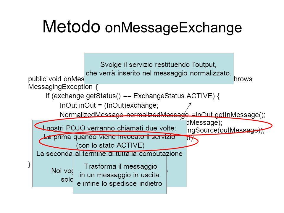 Metodo onMessageExchange