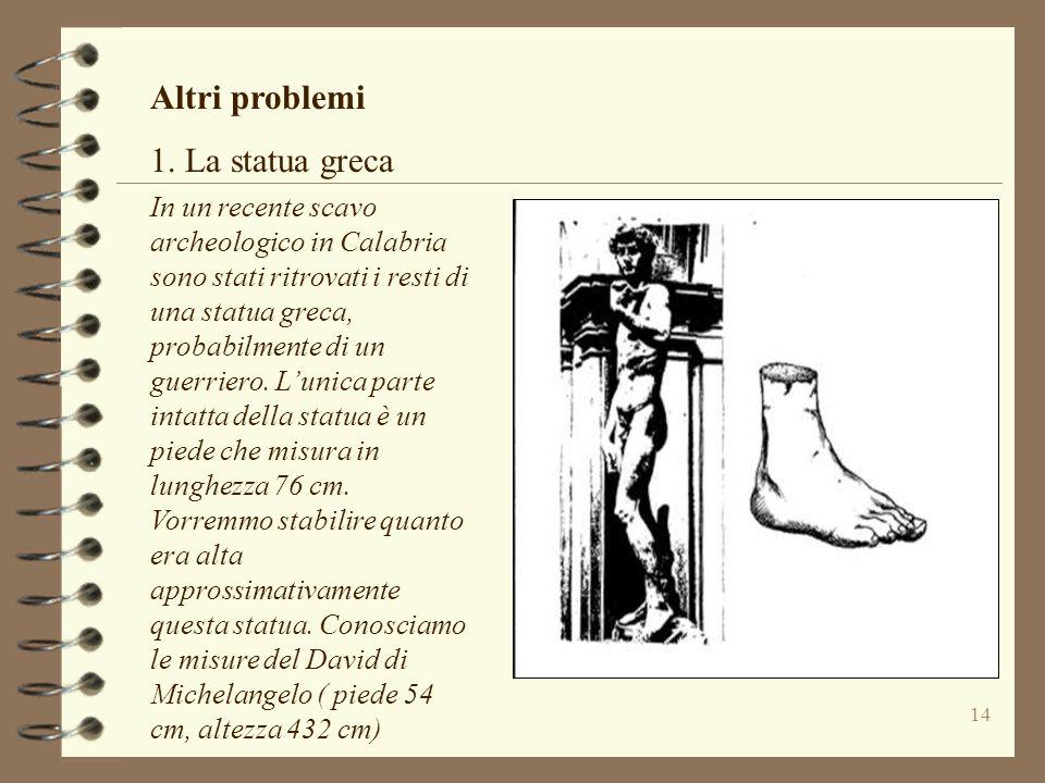 Altri problemi 1. La statua greca