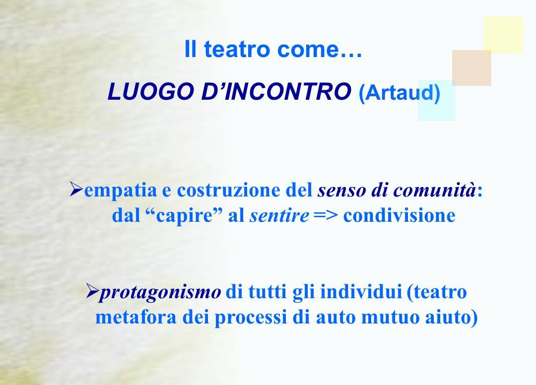Il teatro come… LUOGO D'INCONTRO (Artaud)