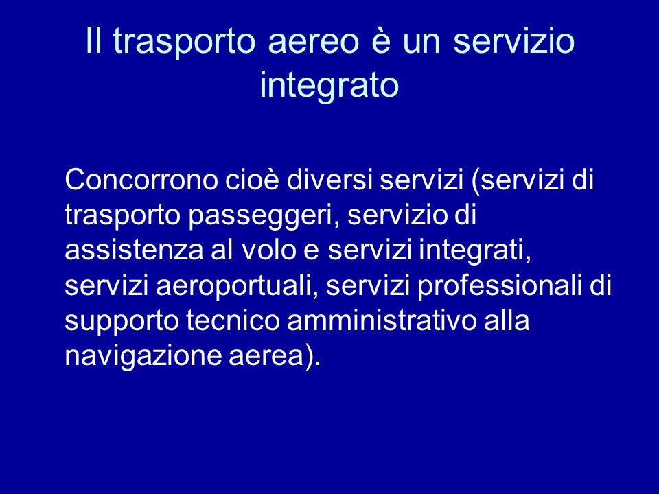 Il trasporto aereo è un servizio integrato