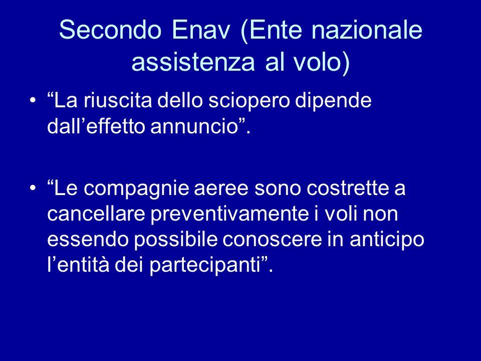Secondo Enav (Ente nazionale assistenza al volo)