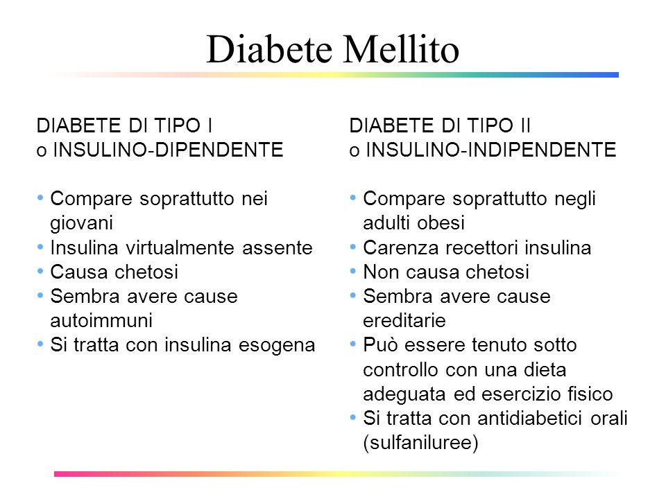 Diabete Mellito DIABETE DI TIPO I o INSULINO-DIPENDENTE