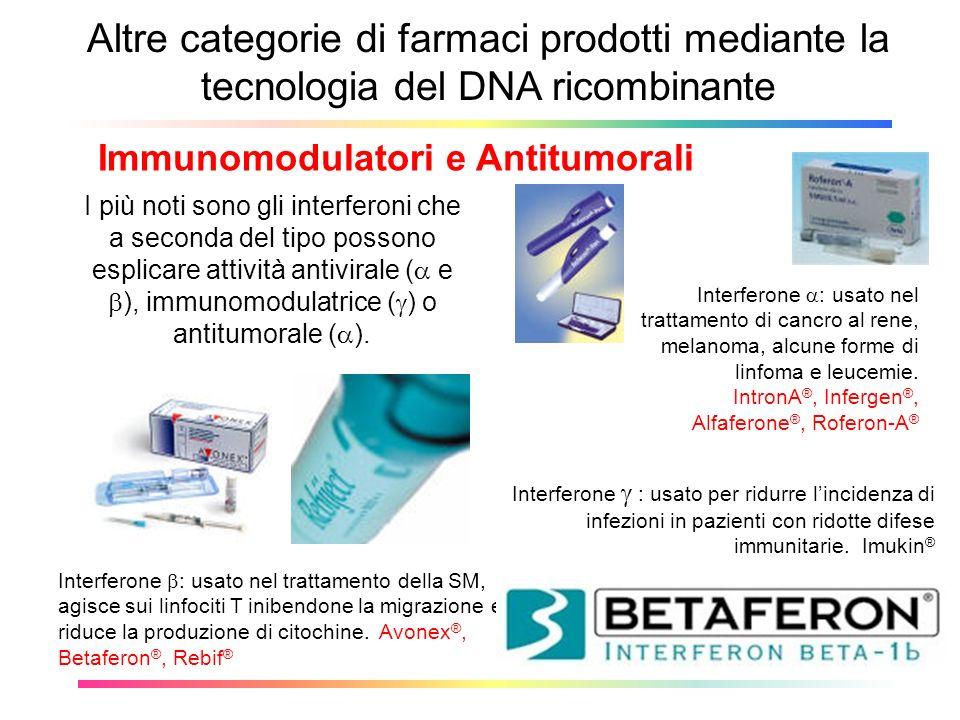 Immunomodulatori e Antitumorali
