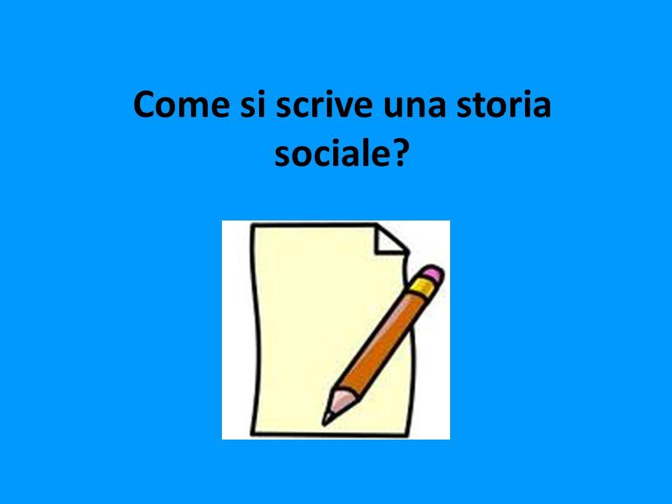 Come si scrive una storia sociale