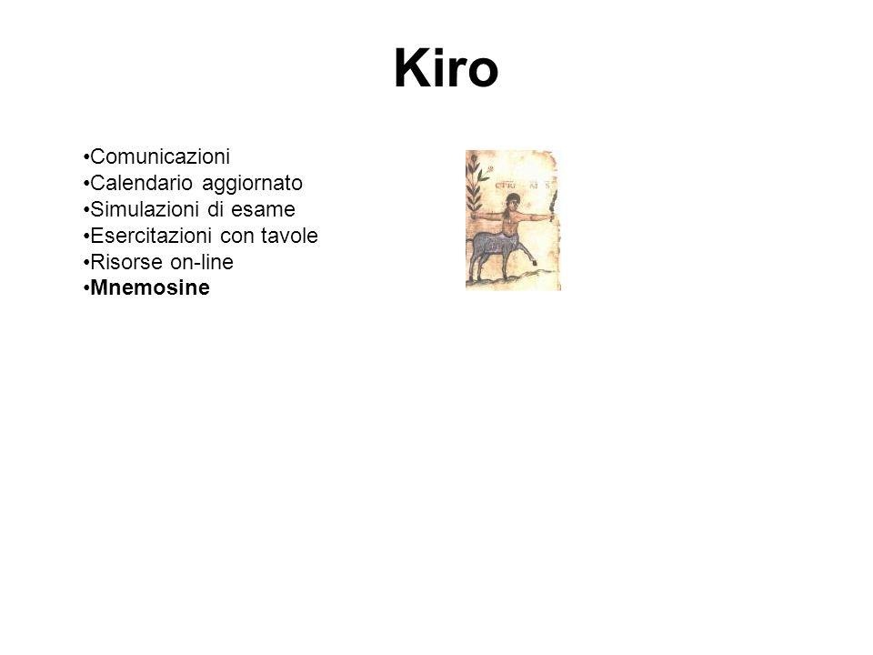 Kiro Comunicazioni Calendario aggiornato Simulazioni di esame